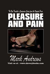 cover design for the book entitled Pleasure And Pain