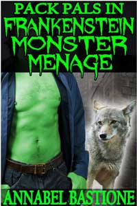cover design for the book entitled Pack Pals In Frankenstein Monster Menage