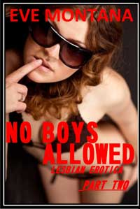 cover design for the book entitled No Boys Allowed - Lesbian Erotica Part Two