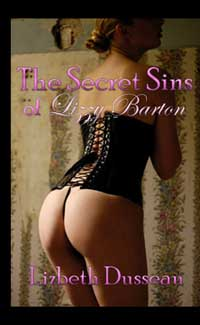 cover design for the book entitled The Secret Sins of Lizzy Barton
