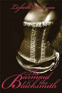 cover design for the book entitled The Barmaid & The Blacksmith