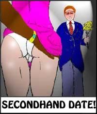 cover design for the book entitled Secondhand Date!