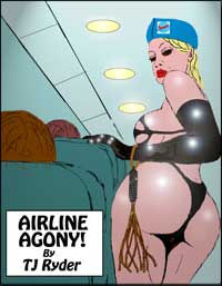 cover design for the book entitled Airline Agony!