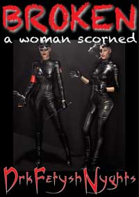 cover design for the book entitled BROKEN - a woman scorned