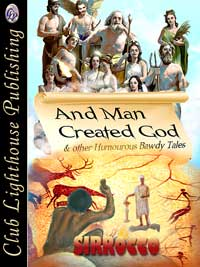 cover design for the book entitled And Man Created God