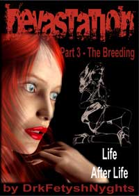 cover design for the book entitled DEVASTATION 3 - THE BREEDING