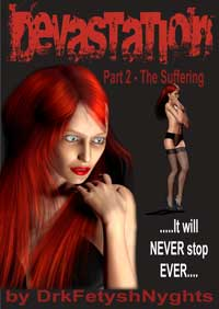 cover design for the book entitled DEVASTATION 2 - THE SUFFERING
