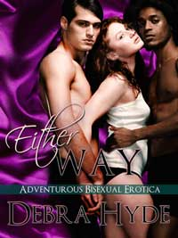 cover design for the book entitled EITHER WAY: Bisexual Erotica