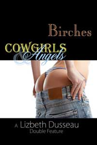 cover design for the book entitled Birches, Cowgirls & Angels