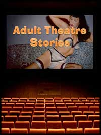 cover design for the book entitled Adult Theatre Stories