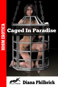 cover design for the book entitled Caged in Paradise