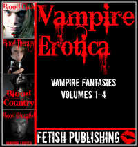 cover design for the book entitled Vampire Erotica