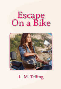 cover design for the book entitled Escape on a Bike