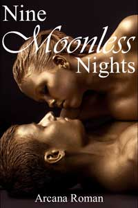 cover design for the book entitled Nine Moonless Nights