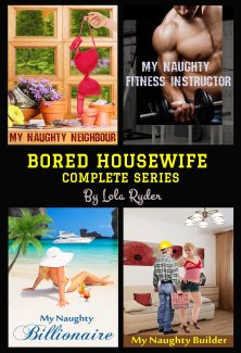 cover design for the book entitled Bored Housewife Series: Books 1-4