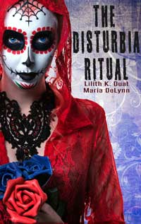 cover design for the book entitled The Disturbia Ritual
