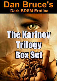 cover design for the book entitled The Karinov Trilogy Box Set